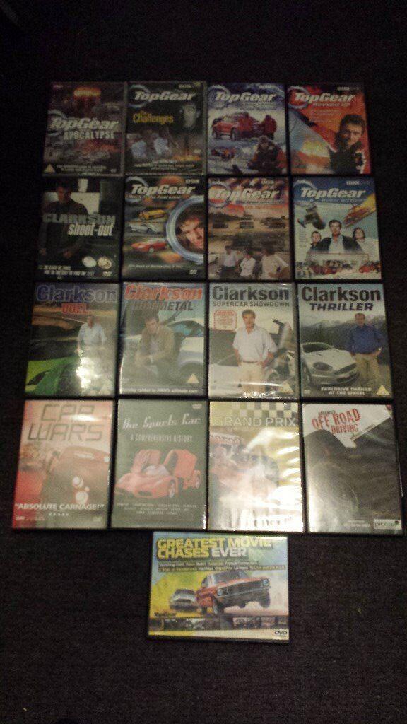17 x top gear/clarkson/car dvds