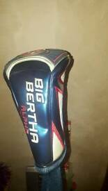 Big Bertha Driver with head cover and wrench