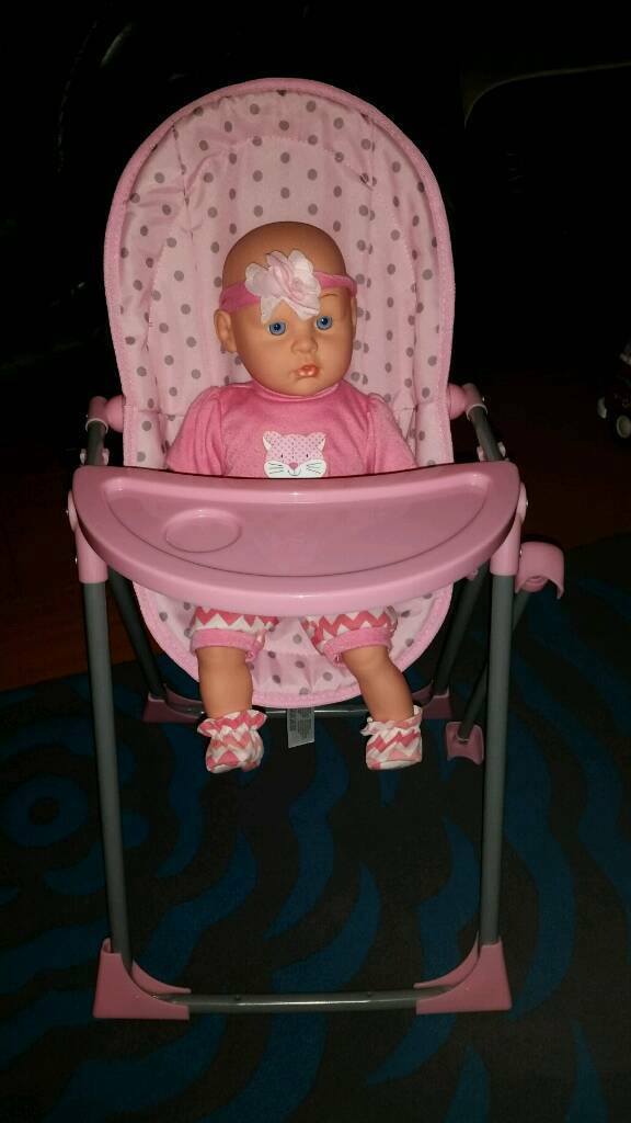 Girls doll and highchair set