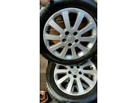 Vauxhall alloys and tyres 16 inch
