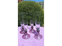 Handmade John Lewis Champagne Flute - Set of 4 - Unused