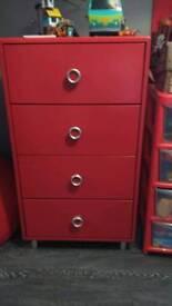 Red drawer set