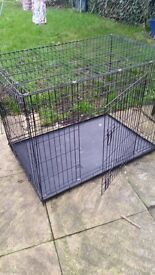 Folding dog crate - Large