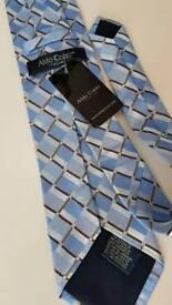 Aldo Conti blue pattern men's tie (NEW)