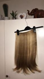 Hair extensions/ clip in one piece
