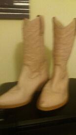 pale pink ladies cowboy boots