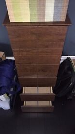 Next wooden CD storage, 6 drawers