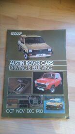 Austin / MG / Rover group Brochures