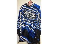 wulfsport race shirt motocross motox quad enduro blue adult size medium