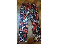 Brand new trousers size 14 lovely print