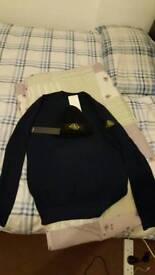Brand new raulf lauren, tommy Hilfiger long sleeves all with tags , stone island jumper with hat .
