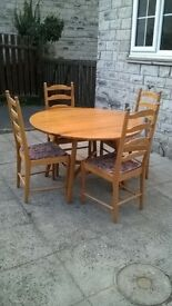 Ercol folding table and chairs