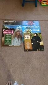 Country music vinyl LPs