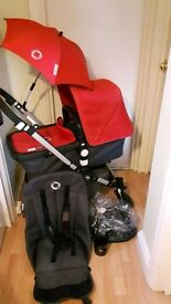Bugaboo Cameleon 3. with red hood