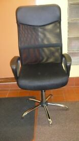 Beauty4Less Black Texaline High Back Mesh Swivel Office Chair (new in original box)