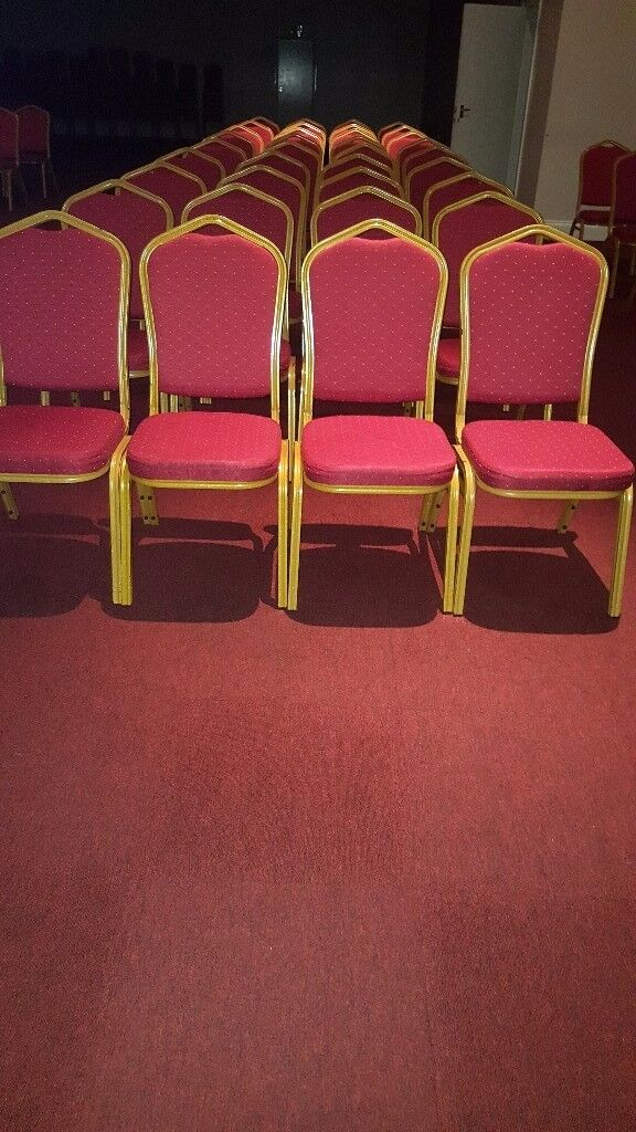 Steel Banqueting Chair red.