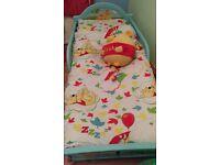 Toddler bedroom cot bed bundle winnie the pooh