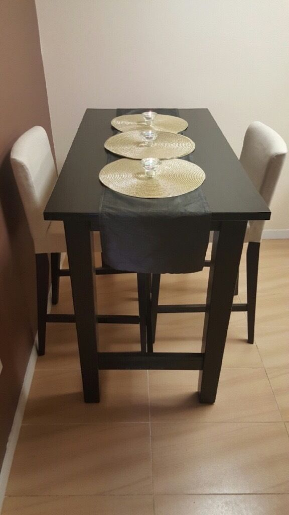Ikea Stornas Bar Table With 2x Henriksdal Chairs