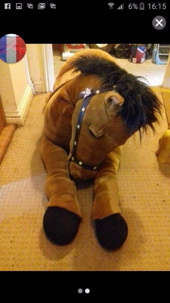 3 ft long soft toy horse