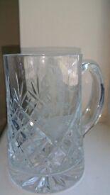 Crystal Cut Glass Tankard for a Golfer