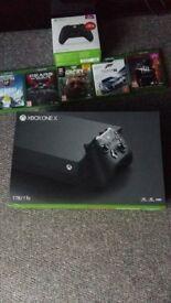 Xbox one x plus extras