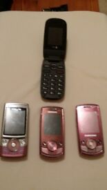 4 mobile phones for spare or repair