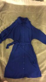 Blue dress shirt style