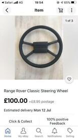 RANGE ROVER CLASSIC Steering wheel 1984