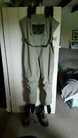 Reduced..Breathable Chest waders and boots