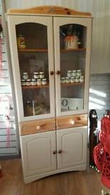 Upcycled French dresser display cabinet with drawers