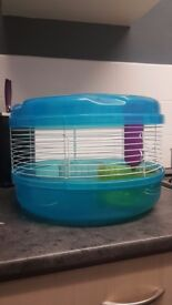 Small round hamster cage