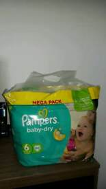 Pampers Nappies Large Pack Size 6