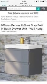 Brand new boxed wall hung vanity unit and sink
