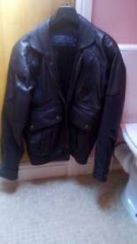 Heavy gents black bomber. Vintage. Best quality leather Size small. Excellent condition