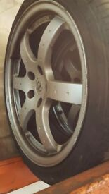nissan 350z rays alloy wheels with tyres 5x114.3 5x114