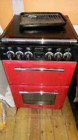 Stoves red and black dual fuel stove (55cm)