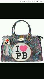 Pauls boutique paint splatter handbag