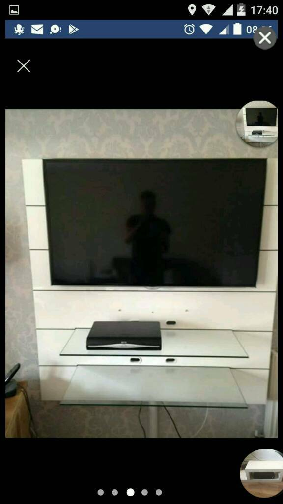 Brilliant Panorama Wall Mounted Tv Stand High Gloss White 2 Glass Shelves In Chatham Kent Gumtree Download Free Architecture Designs Scobabritishbridgeorg