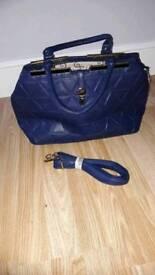 Brand new blue bag.