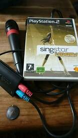 Singstar microphones with game