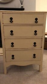 Rustic cream chest of drawers