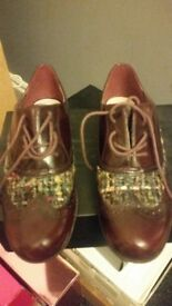 Dorothy perkins leather shoes with knitting detail