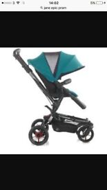 Jane epic teal and black pram