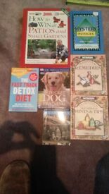 7 books. Household type books bundle