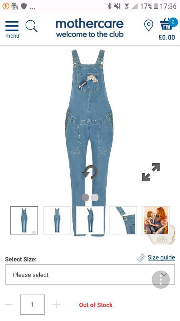Maternity jeans dungarees