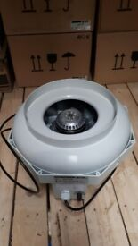 Hydroponics - 250mm Temperature controlled exhaust fan - PRICE REDUCED!!!