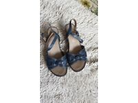 Blue sandals by footglove