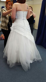 wedding dress, white, disney, size 18- 20, excellent condition, viewing welcome