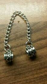 silver plated bracelet safety chain