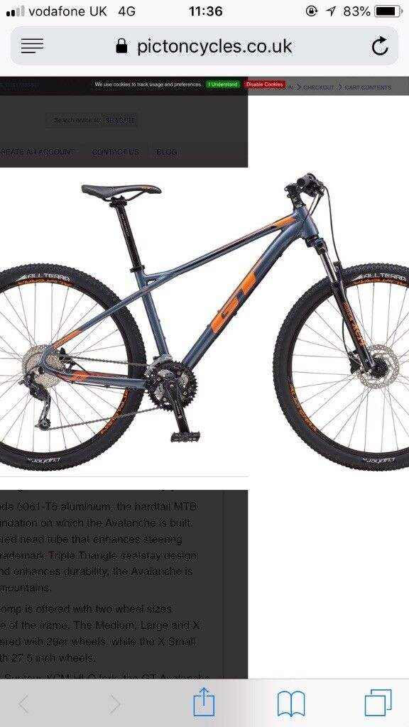 GT mountain bike used 4 times paid £598 will sell for £300 ...